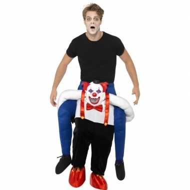 Ride on carnavalskleding horror clown volwassenen