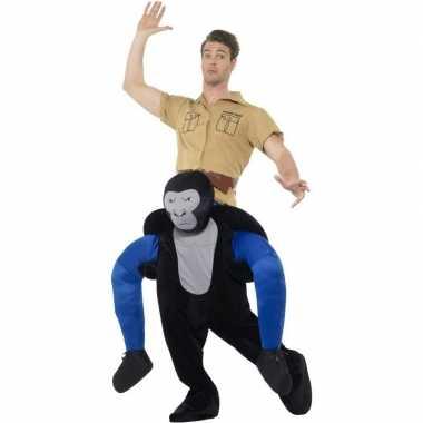 Ride on dierencarnavalscarnavalskleding carnavalskleding gorilla volw