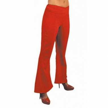 Rode hippie dames broek carnavalskleding
