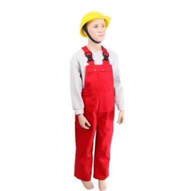 Rode kinder tuinbroek carnavalskleding