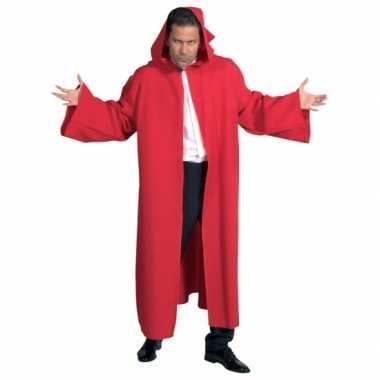 Rode kwaliteit mantel volwassenen carnavalskleding