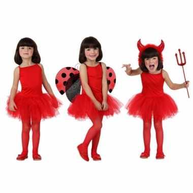 Rood ballet carnavalskleding kind