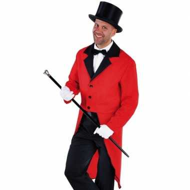 Rood circus directeur ase inclusief hoed maat s carnavalskleding