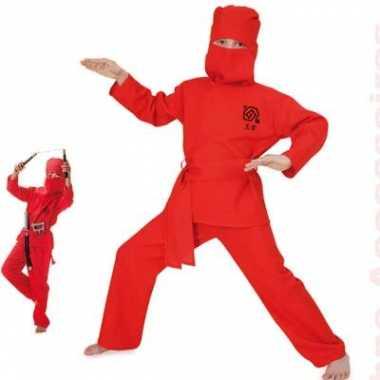 Rood Ninja kinder carnavalskleding