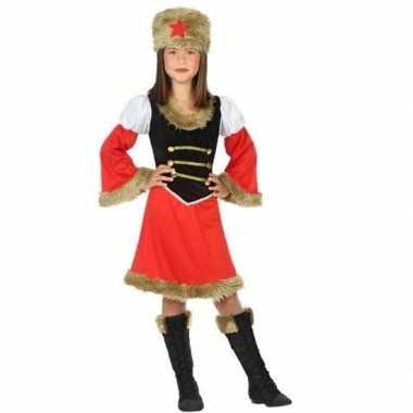 Rood/zwart kozakken carnavalskleding meises