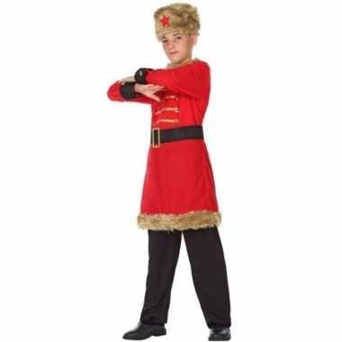 Rood/zwarte kozakken carnavalskleding ongens