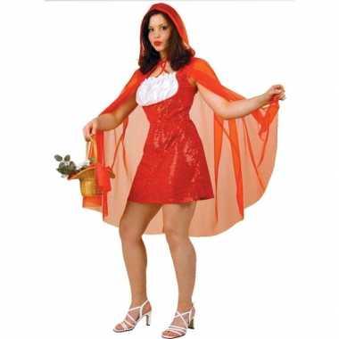 Roodkapje dames carnavalskleding cape