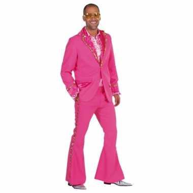 Roze Bling Bling carnavalskleding heren