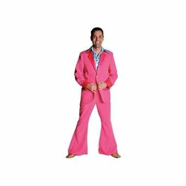 Roze carnavalskleding broek heren