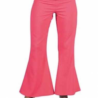 Roze hippie dames broek carnavalskleding