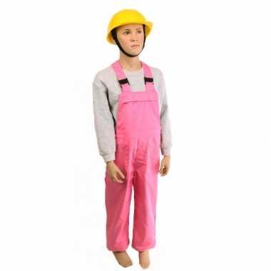 Roze kinder tuinbroek carnavalskleding