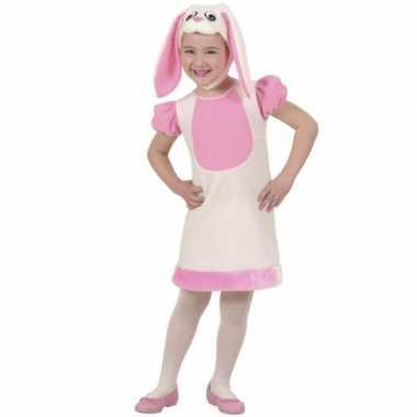 Roze konijn carnavalskleding kind