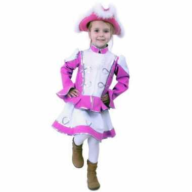 Roze majorette carnavalskleding kind