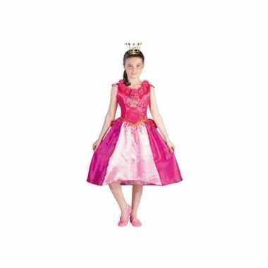 Roze Prinses Roos Prinsessia carnavalskleding