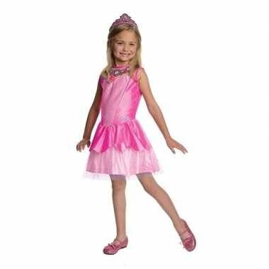 Roze prinsessen carnavalskleding tiara