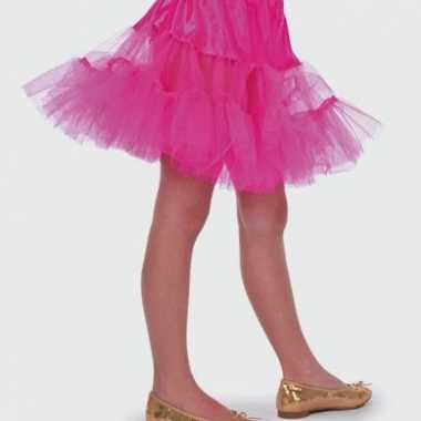 Roze tule carnavalskleding kind