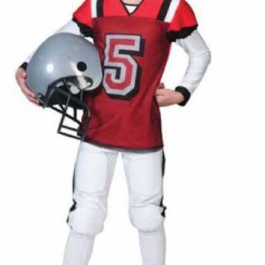 Rugby carnavalskleding rood wit kind