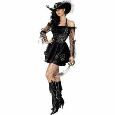 Sexy zwarte piraten carnavalskleding
