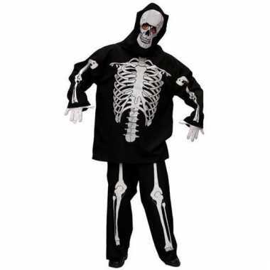 Skeletten carnavalskleding mannen