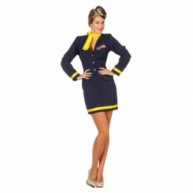 Stewardess uniform dames carnavalskleding