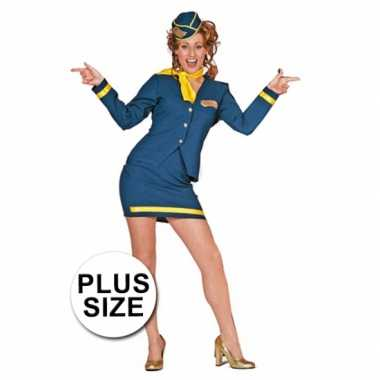 Stewardess uniform grote maat carnavalskleding