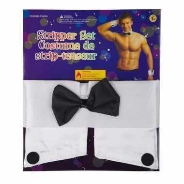 Strippers manchetten strike carnavalskleding