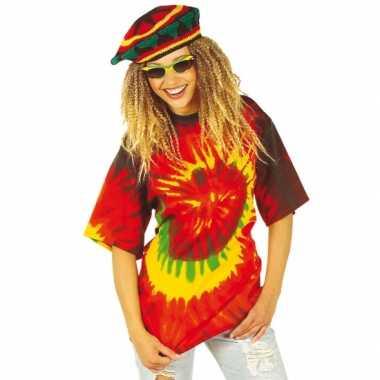 Tie-dye shirt dames heren carnavalskleding