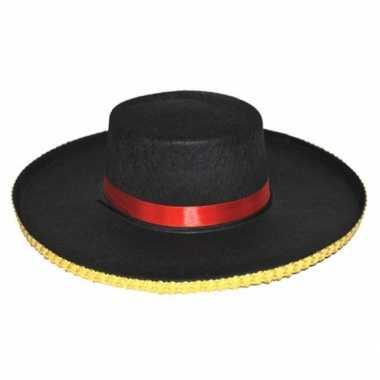 Traditionele spaanse hoed carmen dames carnavalskleding