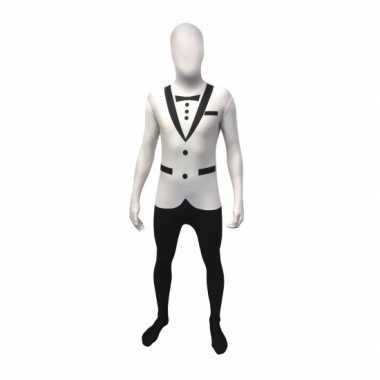Tuxedo morph carnavalskleding wit