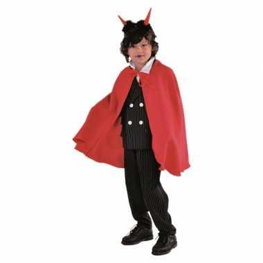 Vampier cape kind rood carnavalskleding