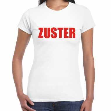 Verpleegster / zuster carnavalskleding shirt wit dames