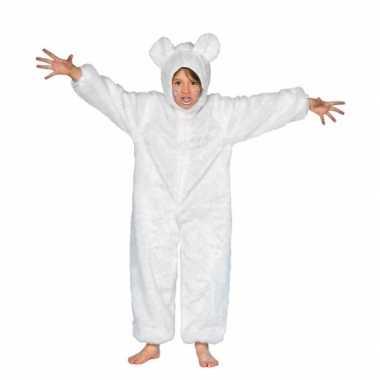 Wit ijsberen carnavalskleding kind
