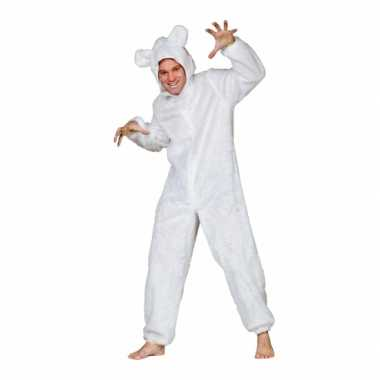 Wit ijsberen carnavalskleding volwassenen