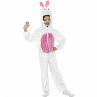 Wit konijnen carnavalskleding kind
