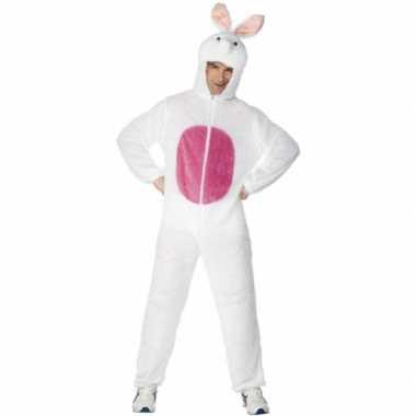 Wit konijnen carnavalskleding volwassenen