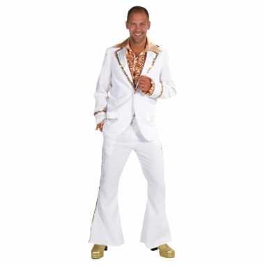 Witte disco carnavalskleding heren