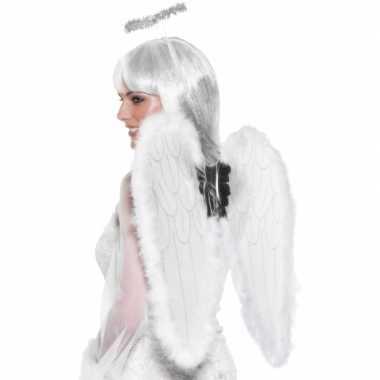 Witte engelen vleugels carnavalskleding