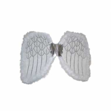 Witte engelen vleugels kinderen carnavalskleding