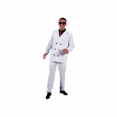 Witte gangster carnavalskleding heren