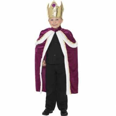 Zachte koningscape kind carnavalskleding