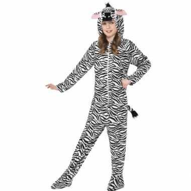 Zebra huis carnavalskleding kind