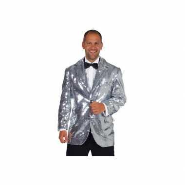 Zilveren heren carnavalskleding kwaliteit