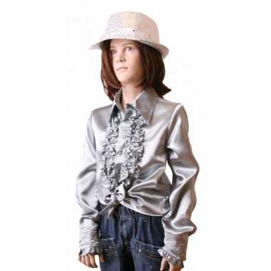 Zilveren hippie carnavalskleding kind