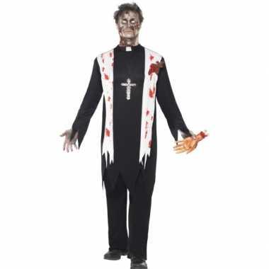 Zombie carnavalskleding priester carnavalskleding