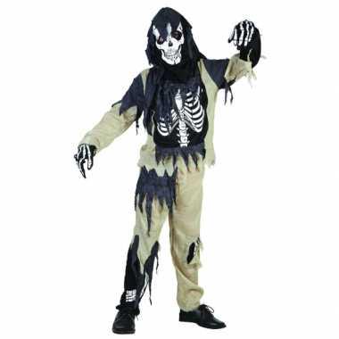 Zombie skelet kinder carnavalskleding