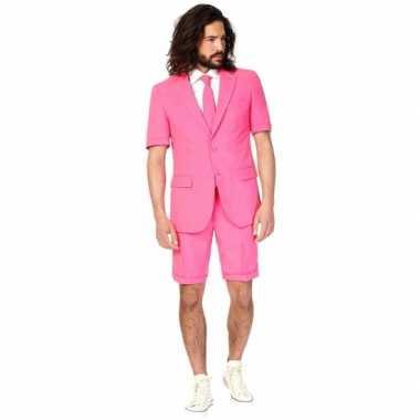 Zomer carnavalskleding roze heren