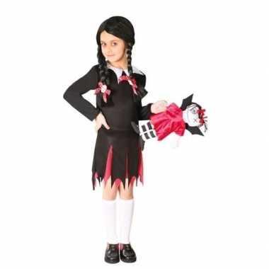 Zwart schoolmeise carnavalskleding meises