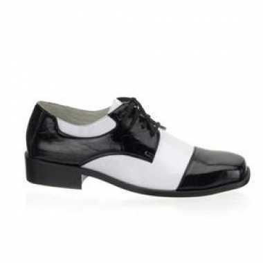 Zwart witte gangster schoenen carnavalskleding