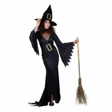 Zwarte heks carnavalskleding