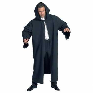 Zwarte kwaliteit mantel volwassenen carnavalskleding